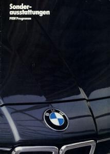 BMW Sonderausstattung Prospekt 1985