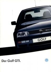 VW Golf 3 GTI Prospekt 1.1993