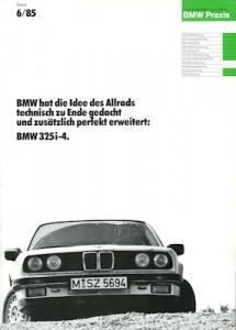 BMW 325i-4 internes Prospekt 6.1985