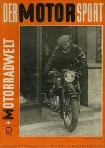 Der Motorsport + Motorradwelt 1949 Heft 9