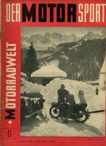Der Motorsport + Motorradwelt 1950 Heft 1