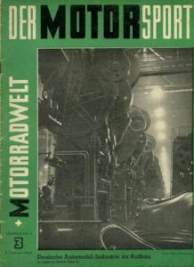 Der Motorsport + Motorradwelt 1950 Heft 3