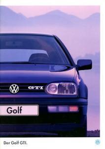 VW Golf 3 GTI Prospekt 1.1995