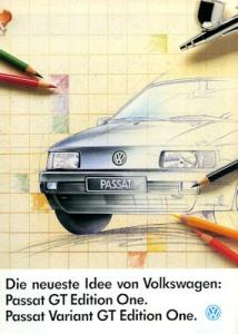 VW Passat B 3 GT / Variant Edition One Prospekt 1.1992