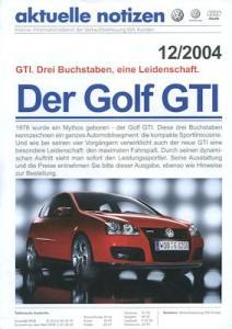 VW Golf 5 GTI Prospekt 9.2004