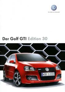 VW Golf 5 GTI Edition 30 Prospekt 10.2006