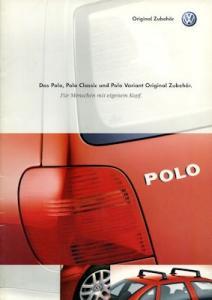 VW Polo 3 Zubehör Prospekt 6.2000
