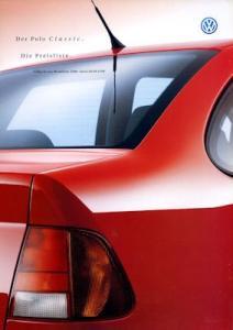 VW Polo 3 Classic Preisliste 9.1999