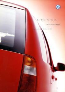 VW Polo 3 Variant Preisliste 7.2000