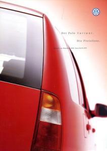 VW Polo 3 Variant Preisliste 9.1999