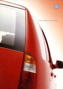VW Polo 3 Variant Prospekt 9.1999