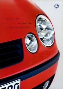 VW Polo 4 Preisliste 9.2001
