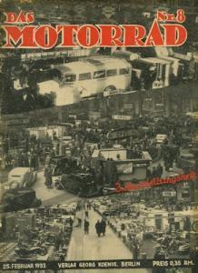 Das Motorrad 1933 Heft 8