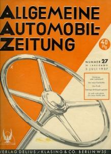 Allgemeine Automobil Zeitung (AAZ) 1937 Heft 27