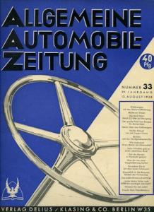 Allgemeine Automobil Zeitung (AAZ) 1938 Heft 33