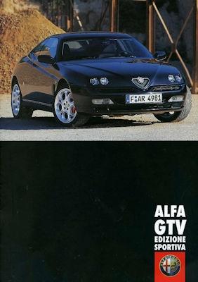 Alfa-Romeo GTV Edizione Sportiva Prospekt 2001 0