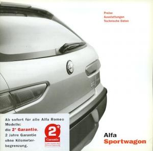 Alfa-Romeo Sportwagon Preisliste 8.2001