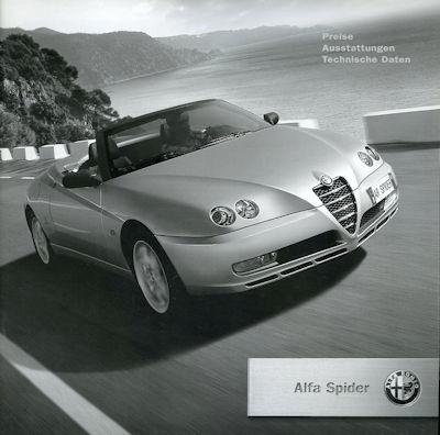 Alfa-Romeo Spider Preisliste 1.2004 0