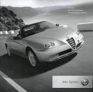 Alfa-Romeo Spider Preisliste 1.2004