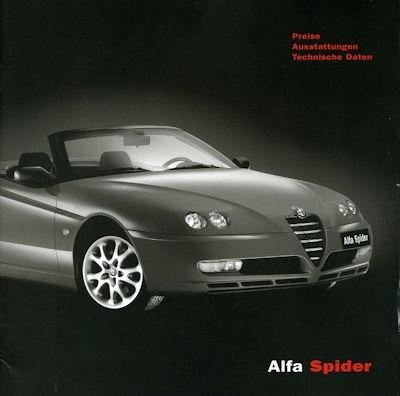 Alfa-Romeo Spider Preisliste 7.2003 0