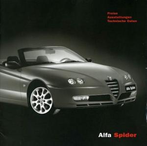 Alfa-Romeo Spider Preisliste 7.2003