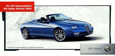 Alfa-Romeo Spider Edizione Prospekt 2004 0