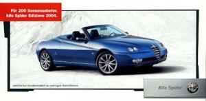 Alfa-Romeo Spider Edizione Prospekt 2004