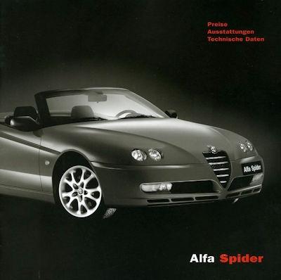 Alfa-Romeo Spider Preisliste 5.2003 0