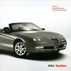 Alfa-Romeo Spider Preisliste 4.2003