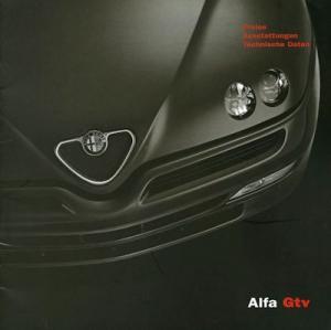 Alfa-Romeo GTV Preisliste 8.2002