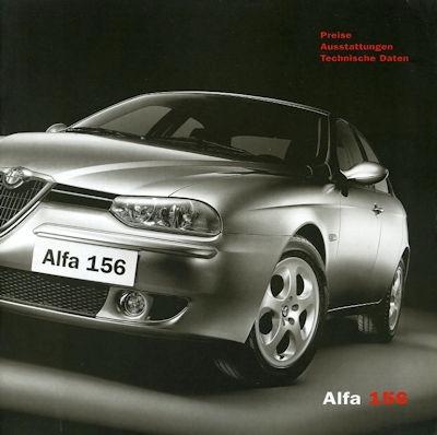 Alfa-Romeo 156 Preisliste 12.2002 0