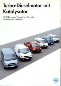 VW T 4 Turbo-Dieselmotor mit Kat. Prospekt 3.1993