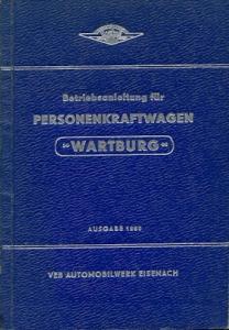 Wartburg 311 Bedienungsanleitung 1960