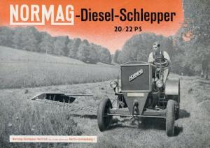 Normag Diesel Schlepper 20/22 PS Prospekt 12.1938