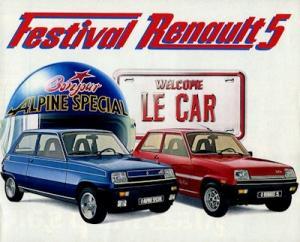 Renault 5 Le Car / Alpine Special Prospekt ca. 1984