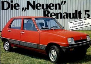 Renault 5 internes Prospekt 1980