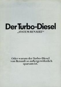 Renault 30 Turbo Diesel Prospekt ca. 1982