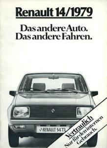 Renault 14 internes Prospekt 1979