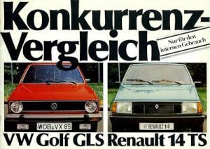 Renault 14 internes Prospekt 1980