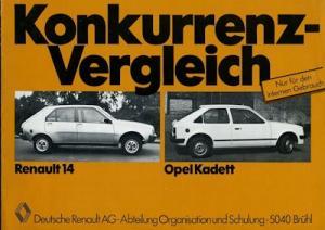 Renault 14 internes Prospekt ca. 1976