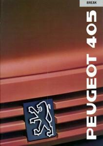 Peugeot 405 Break Prospekt 1989