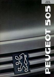 Peugeot 505 Break Prospekt 1989