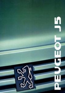Peugeot J 5 Prospekt 1989