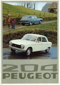 Peugeot 204 Prospekt 1976