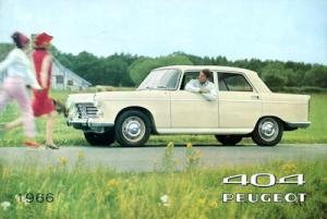 Peugeot 404 Prospekt 1966