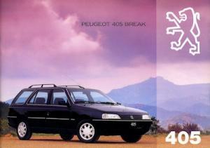 Peugeot 405 Break Prospekt 7.1993