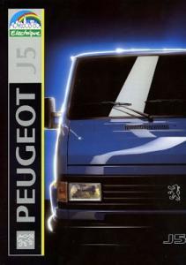 Peugeot J 5 Electrique Prospekt 1992
