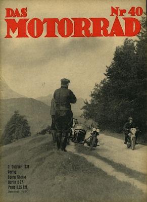 Das Motorrad 1936 Heft 40 0