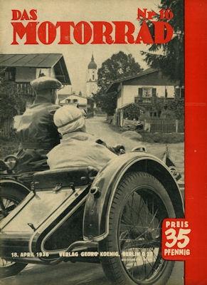 Das Motorrad 1936 Heft 16 0