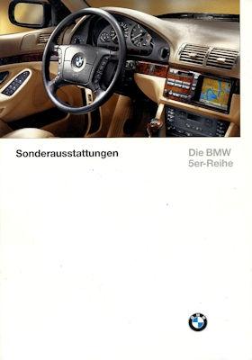 BMW 5er Sonderausstattung Prospekt 1997 0
